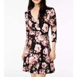 BCX floral wrap dress